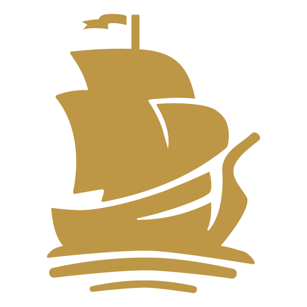 Gold Pirate Ship Arrrmada logo