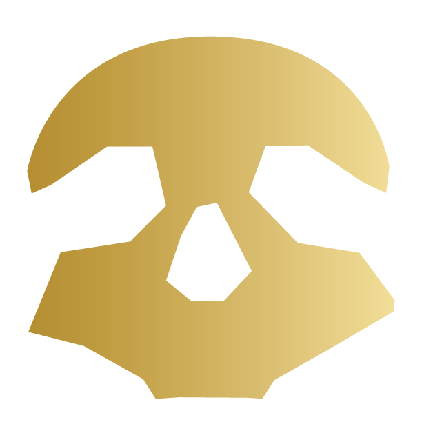 Gold Pirate ARRR skull logo