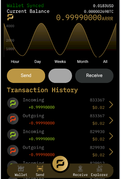 pirate android mobile wallet arrr